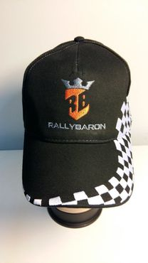 Black Cap Checkered Flag Pattern